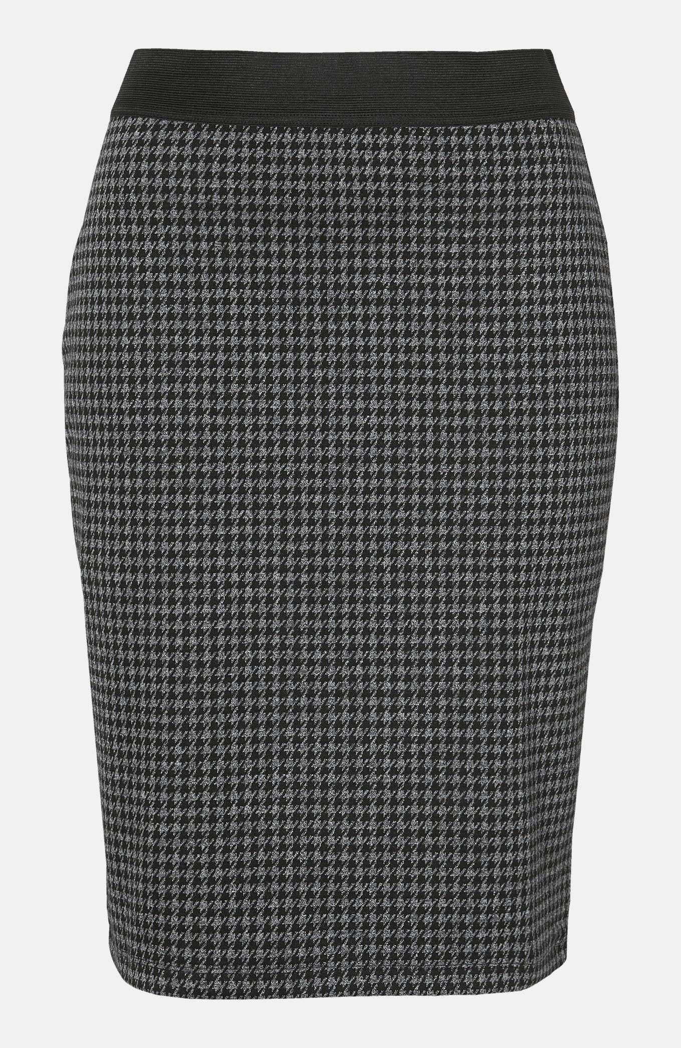 Jacquardstickad kjol