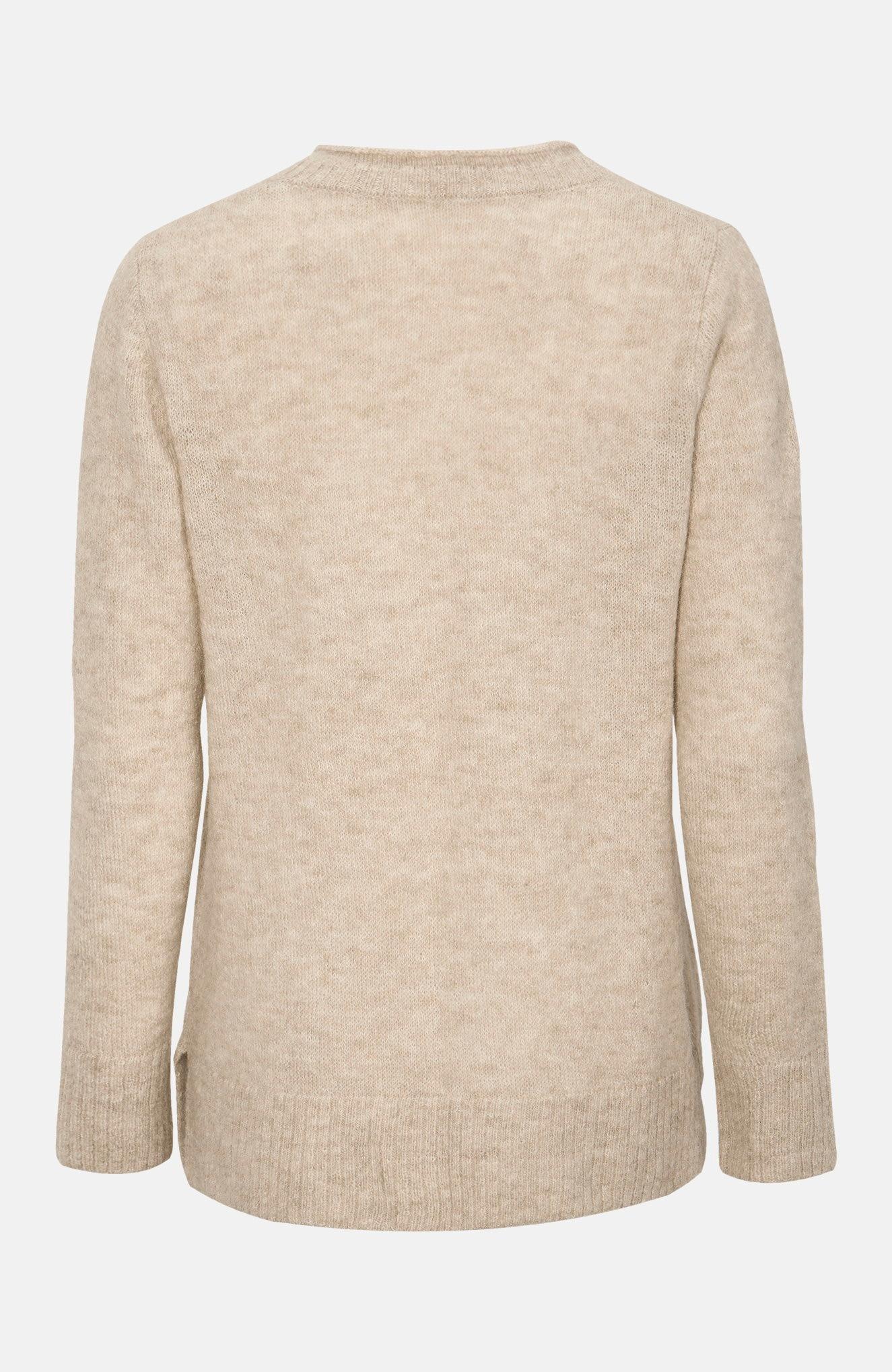 Tröja i alpacka och återvunnen polyester