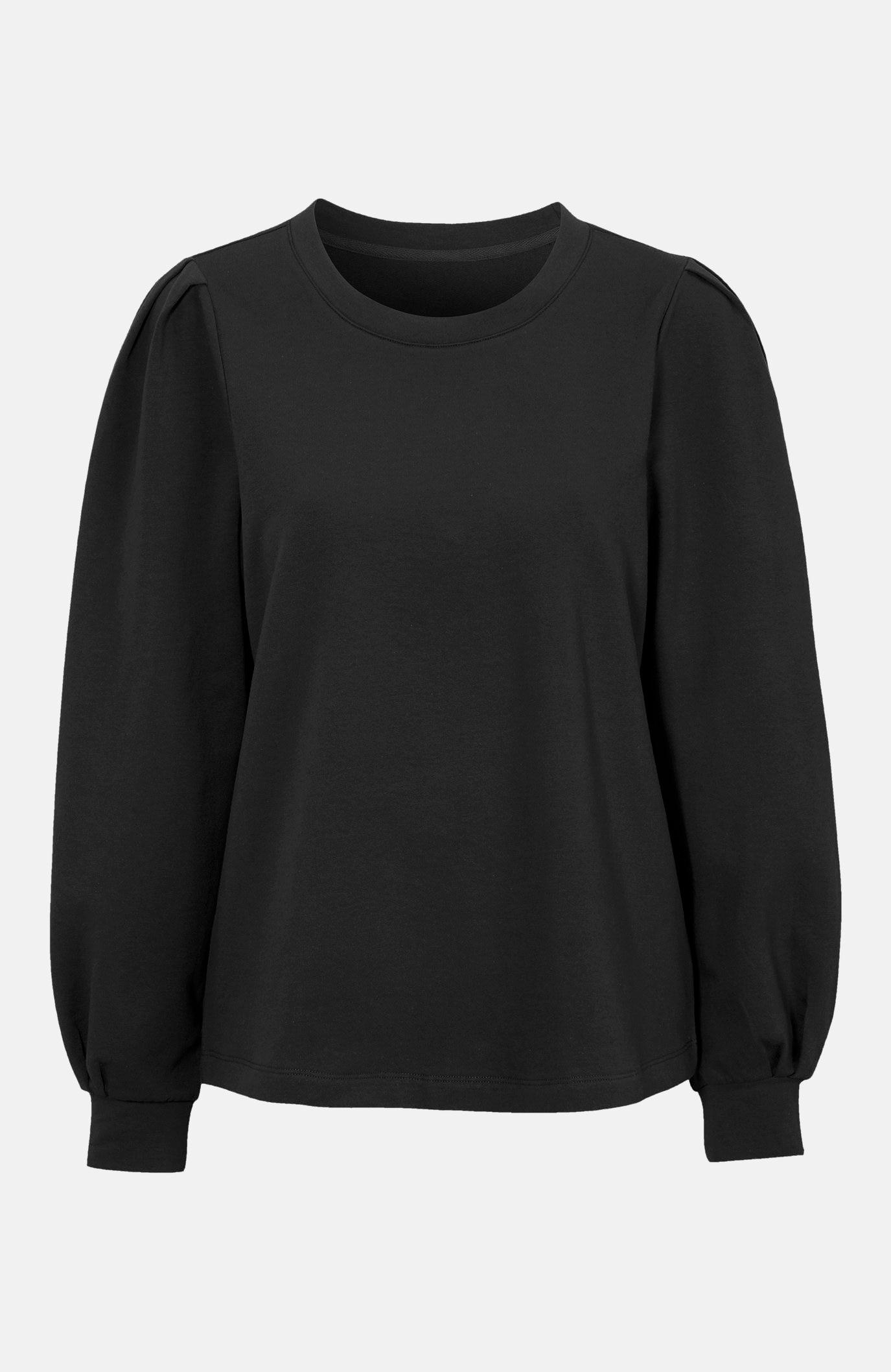 Sweatshirt med puffärm
