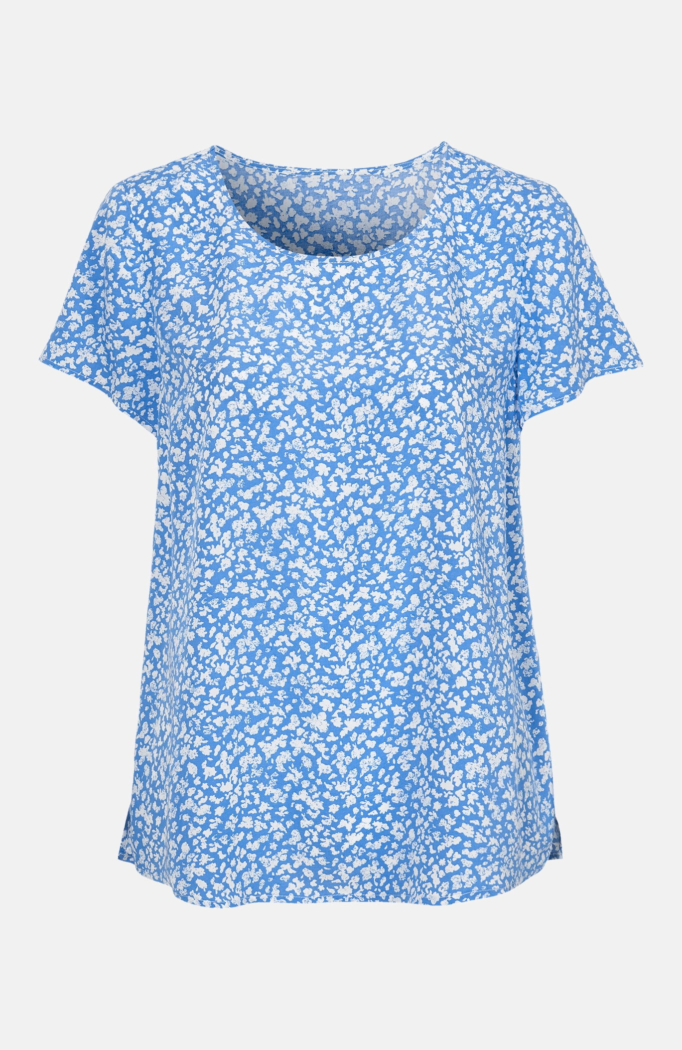 Kortärmad mönstrad blus