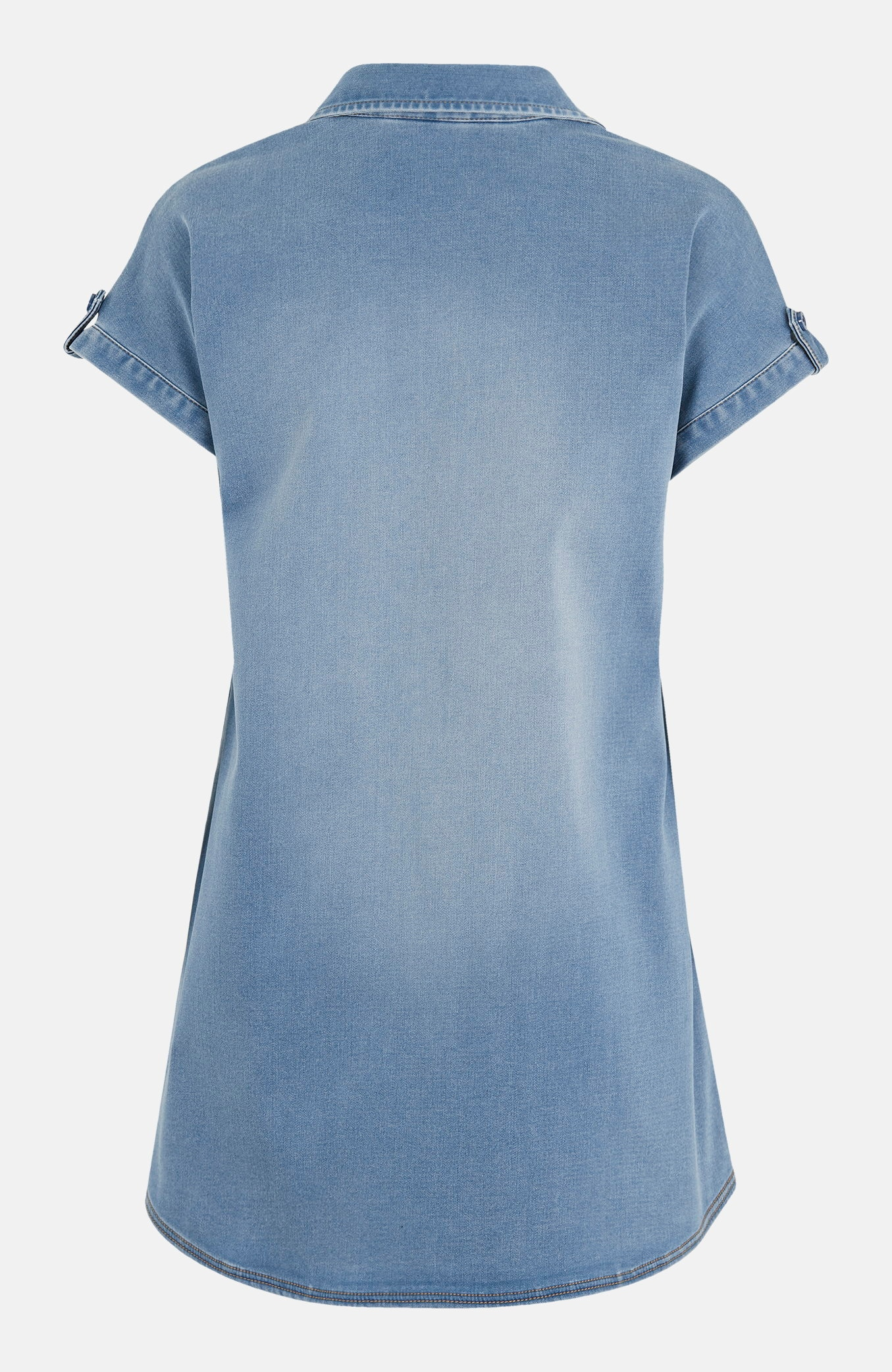 Kortärmad jeansskjorta