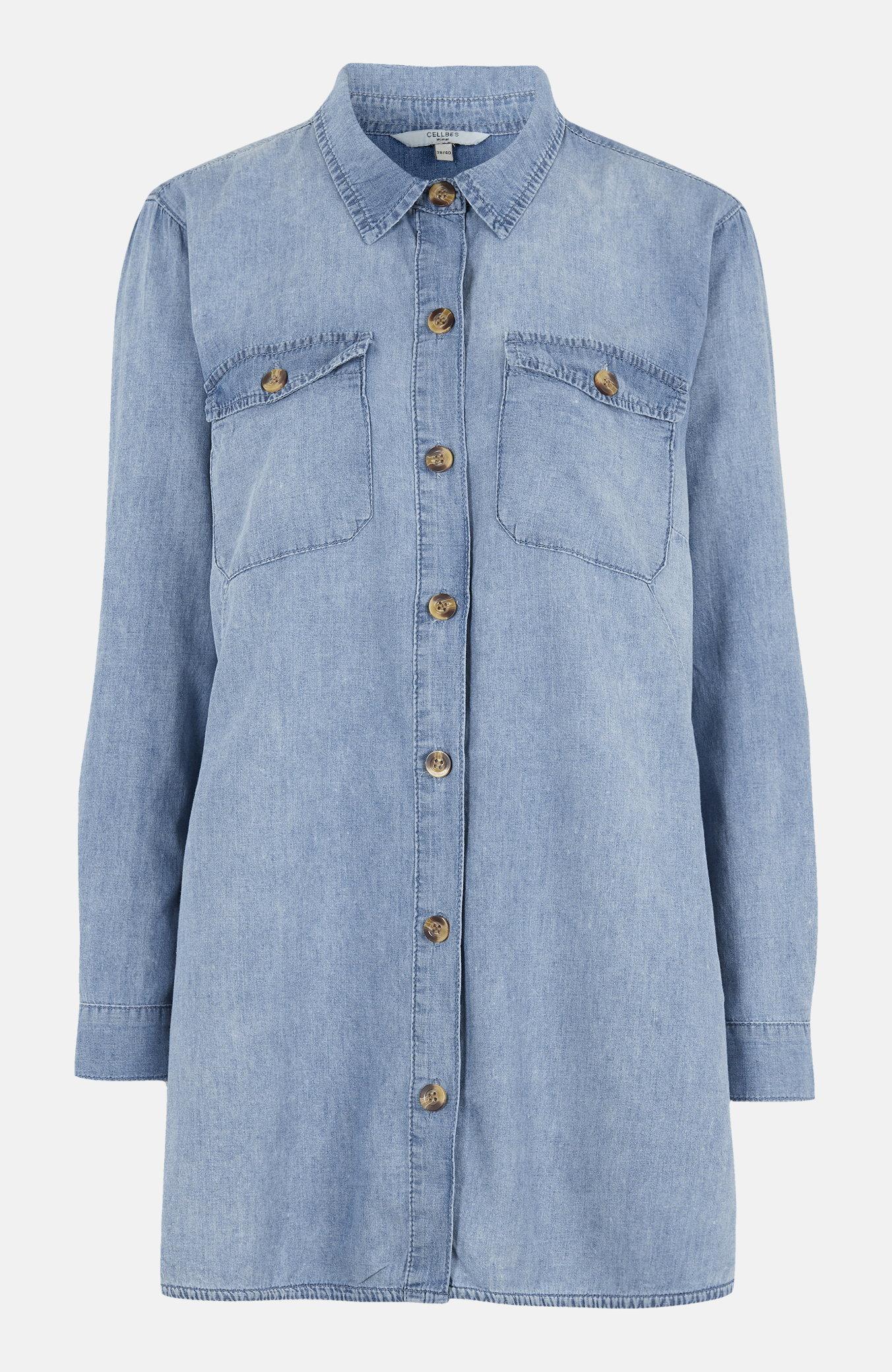 Lång jeansskjorta