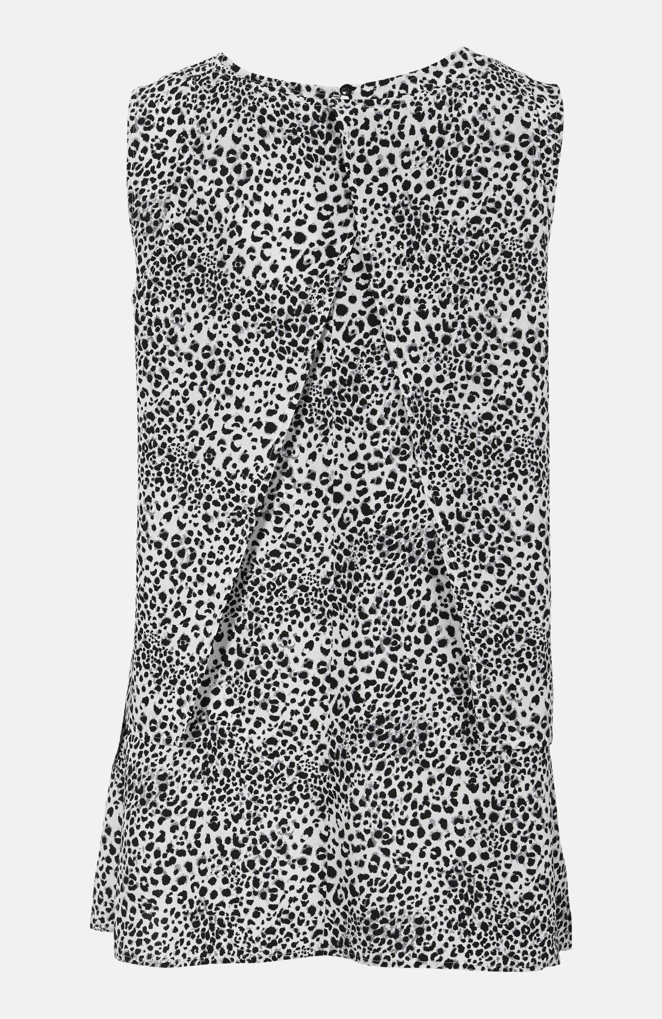 Leopardmönstrad blus i 2 lager