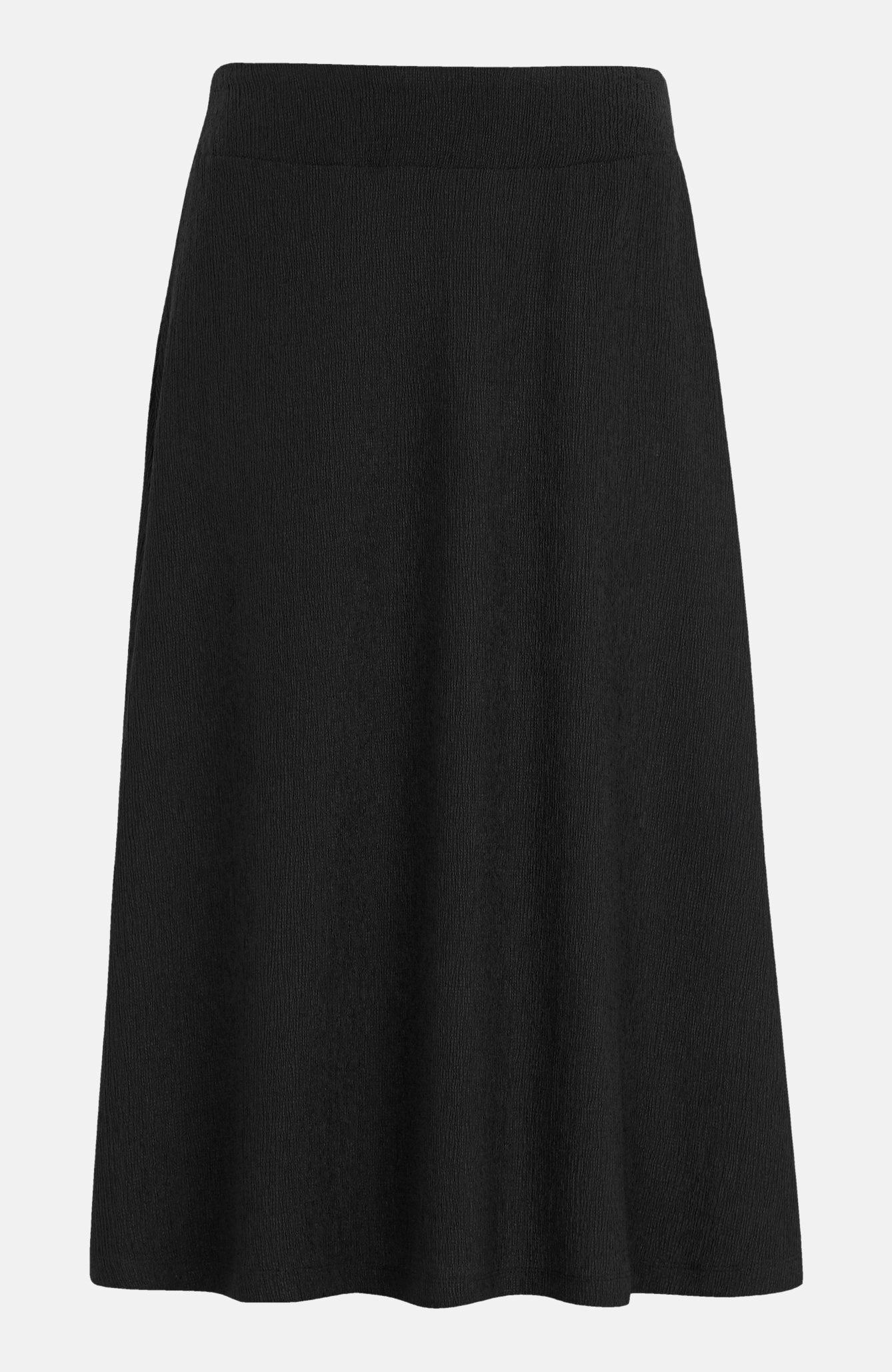 Lång krinklad kjol