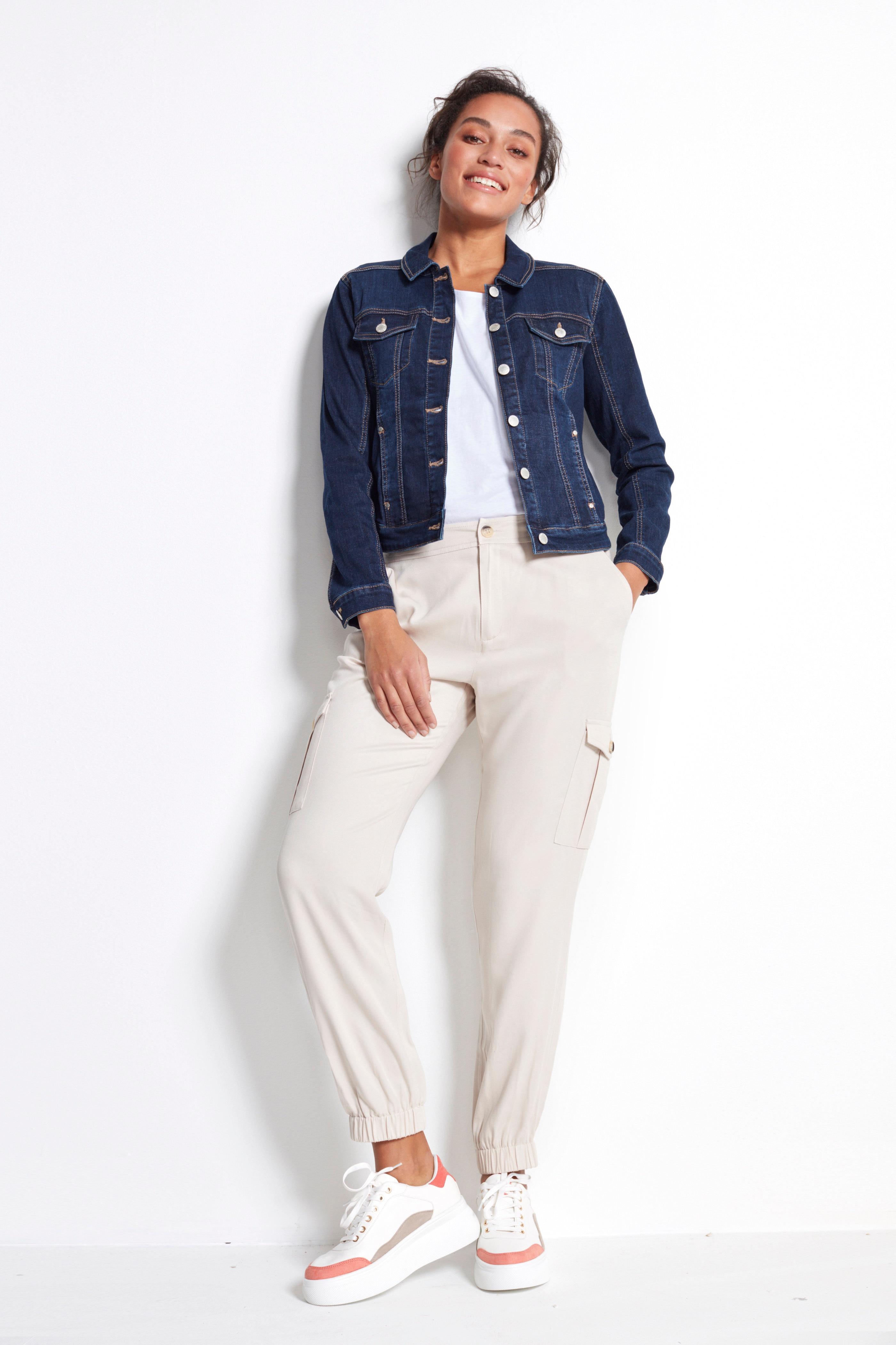 Stretchig jeansjacka