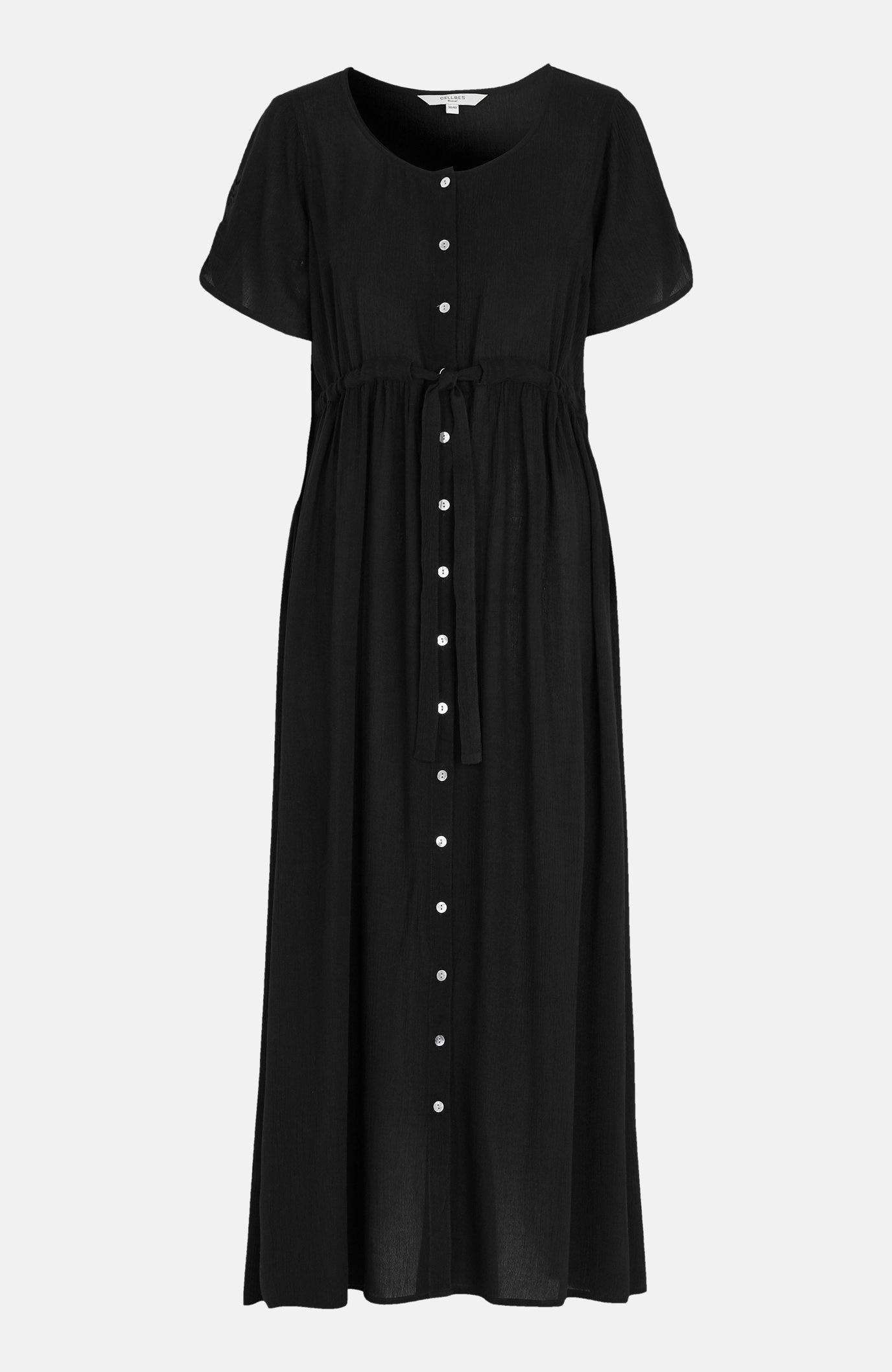 Lång klänning i crepe