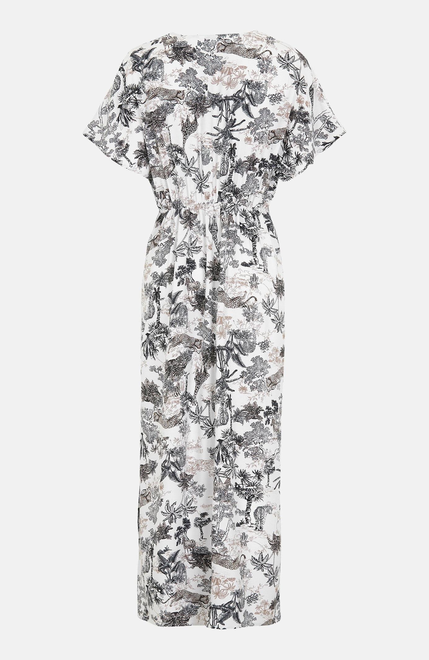 Vävd mönstrad långklänning