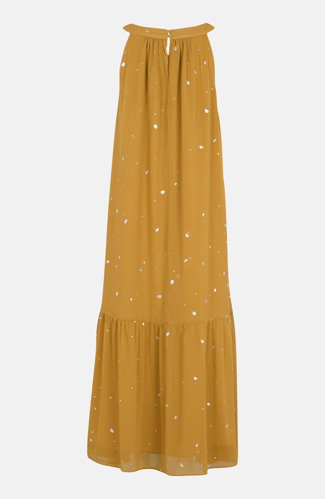 Chiffongklänning med silverfärgade prickar