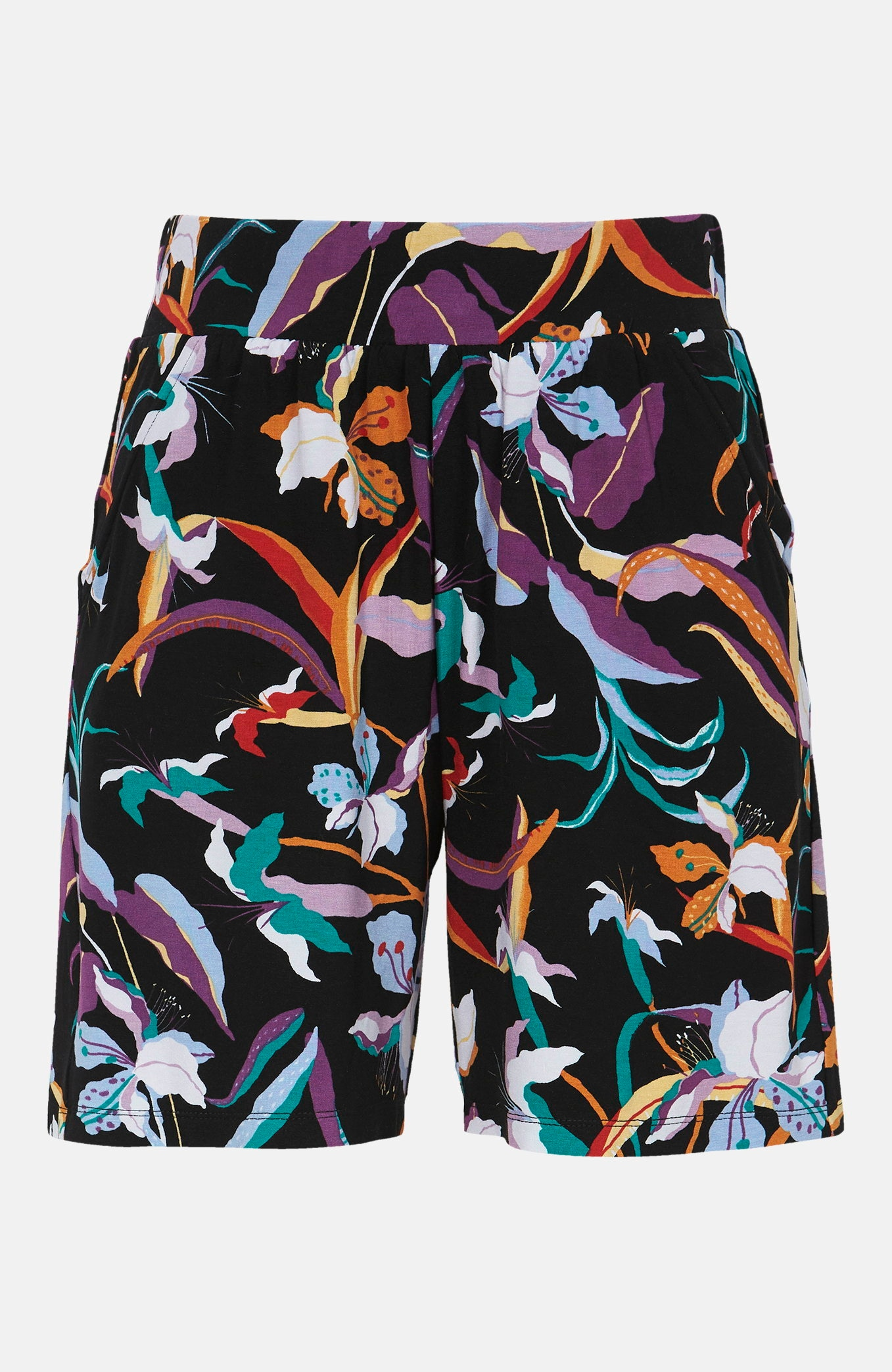 Mönstrade shorts i trikå