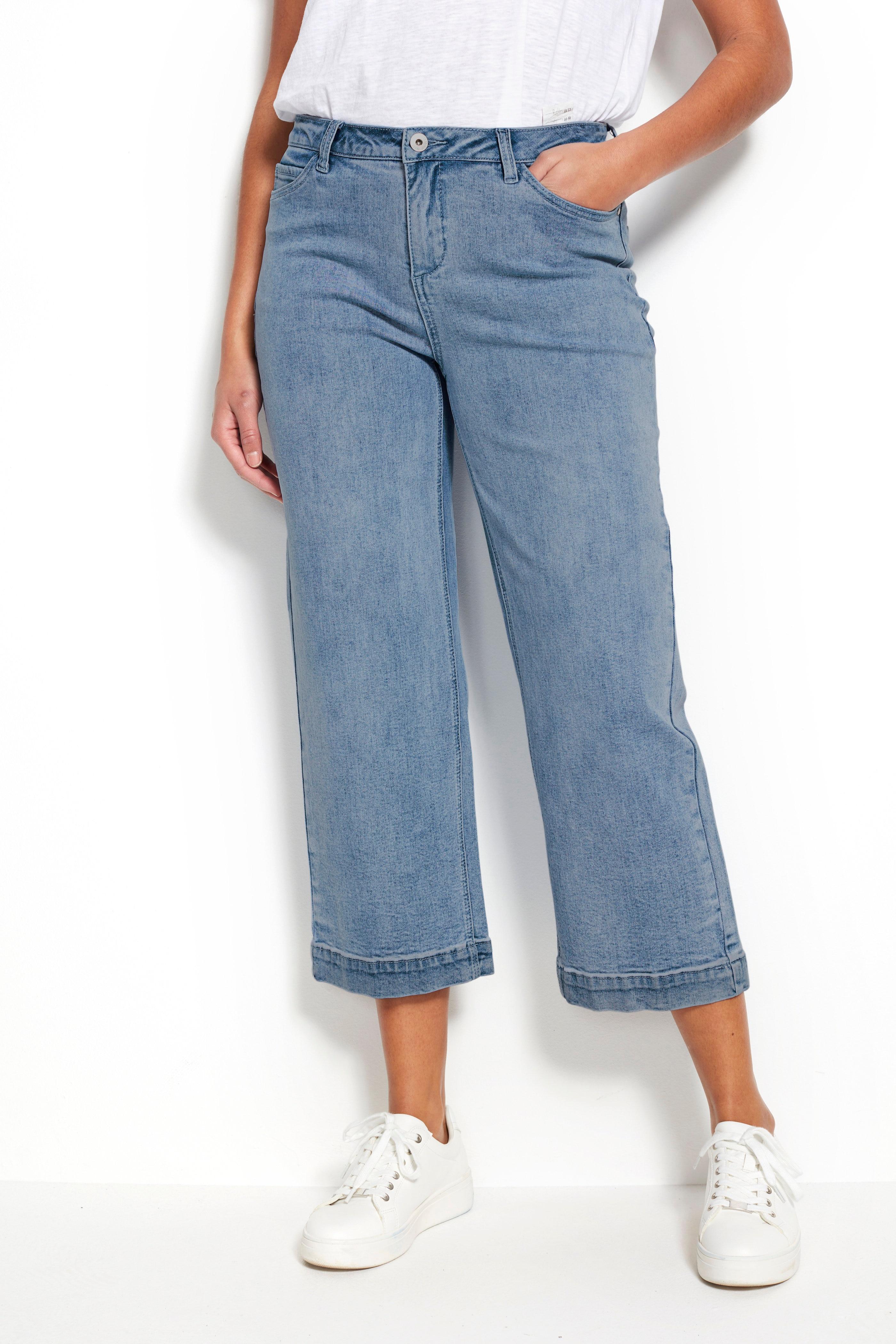 Stretchiga jeans i ankelmodell