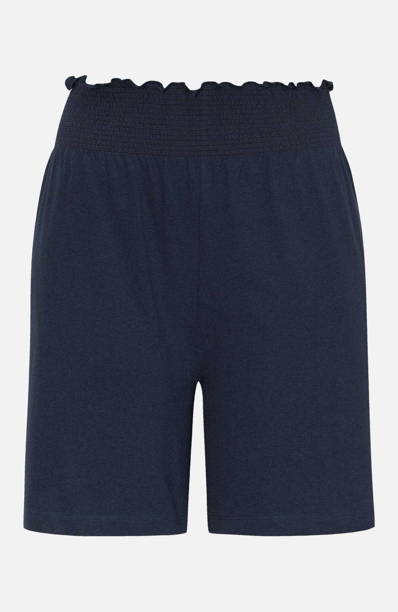 Shorts i trikå med smocklinning