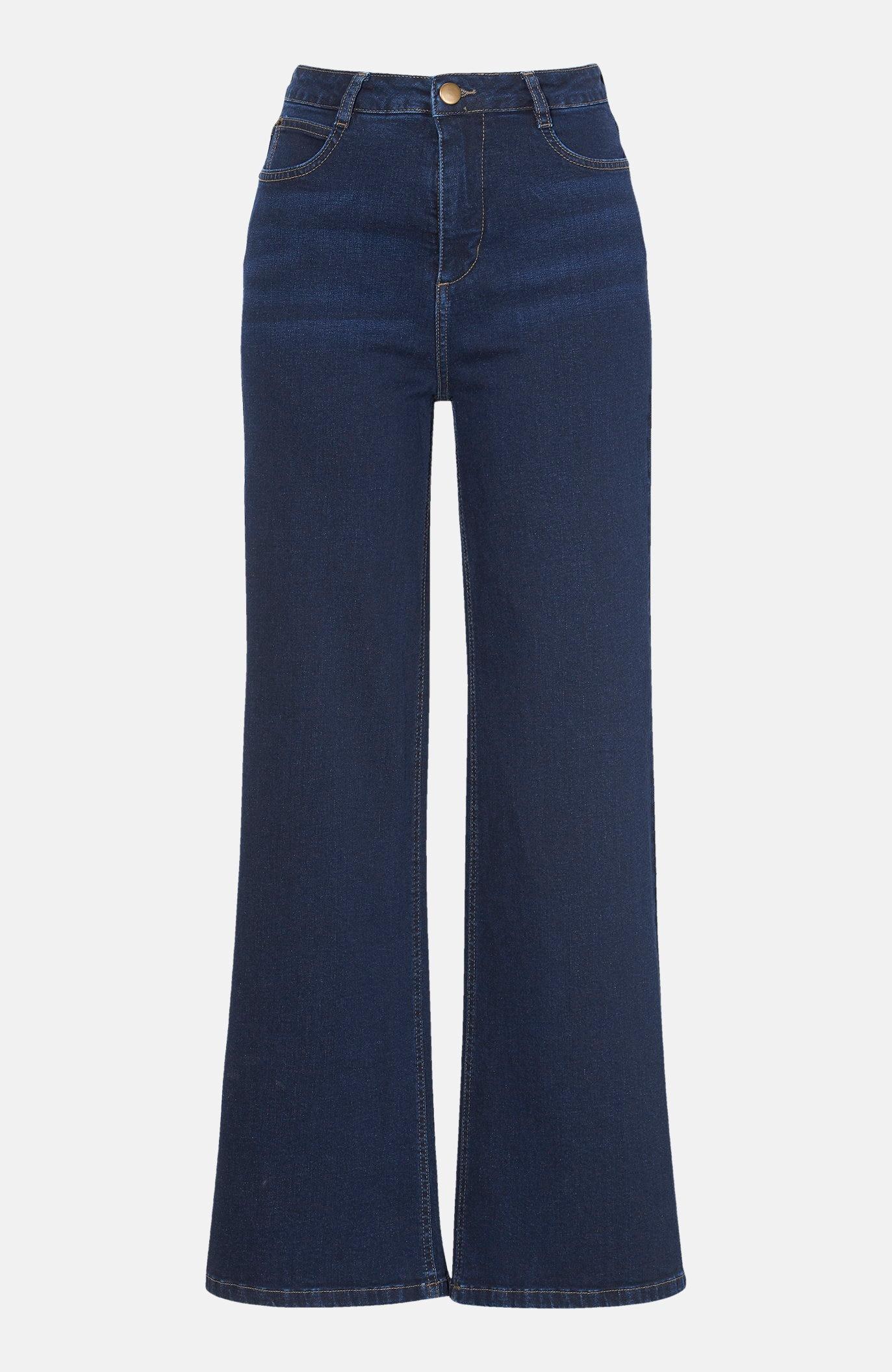 Jeans i ekologisk bomull med vida byxben