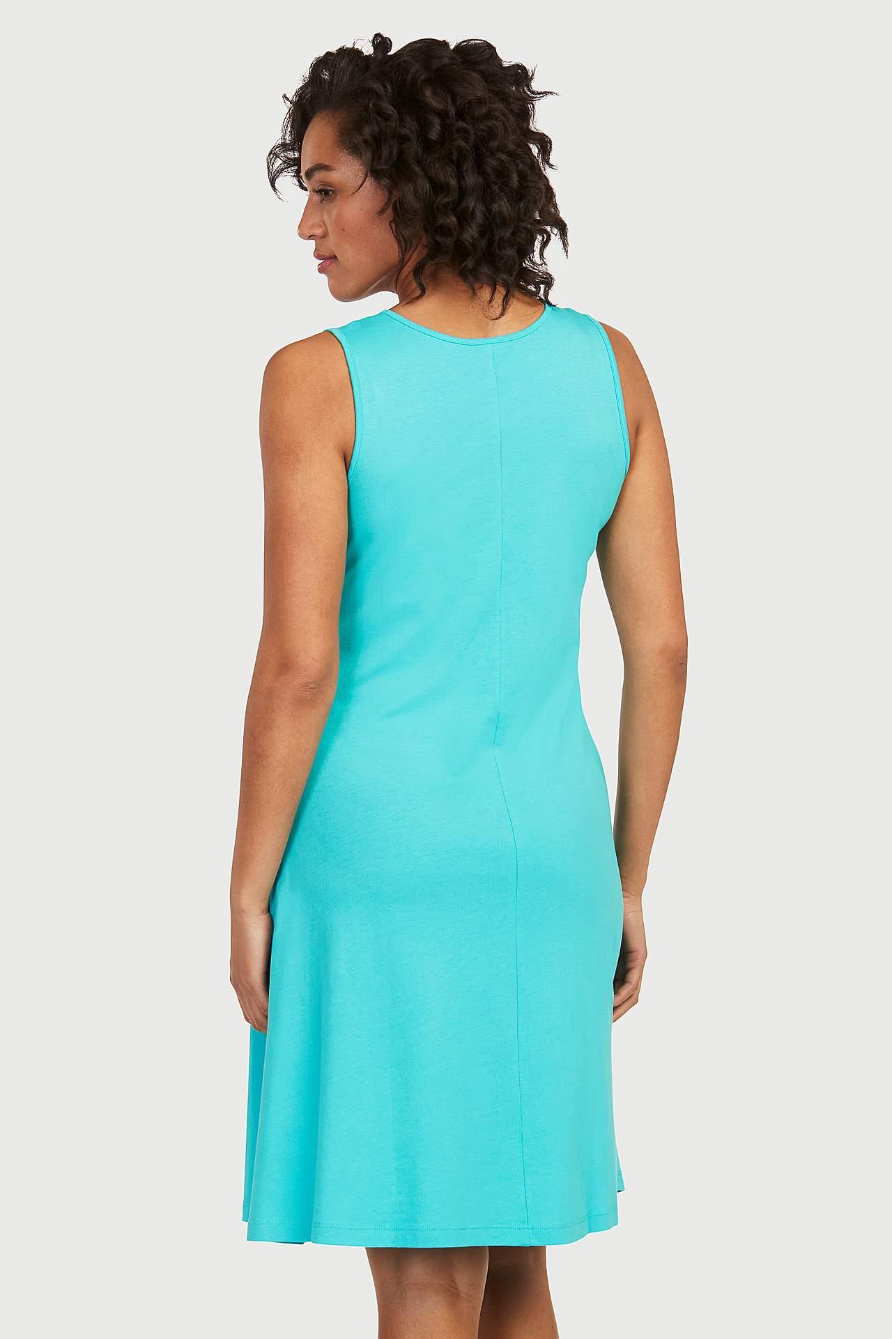 A-linjeformad klänning i trikå