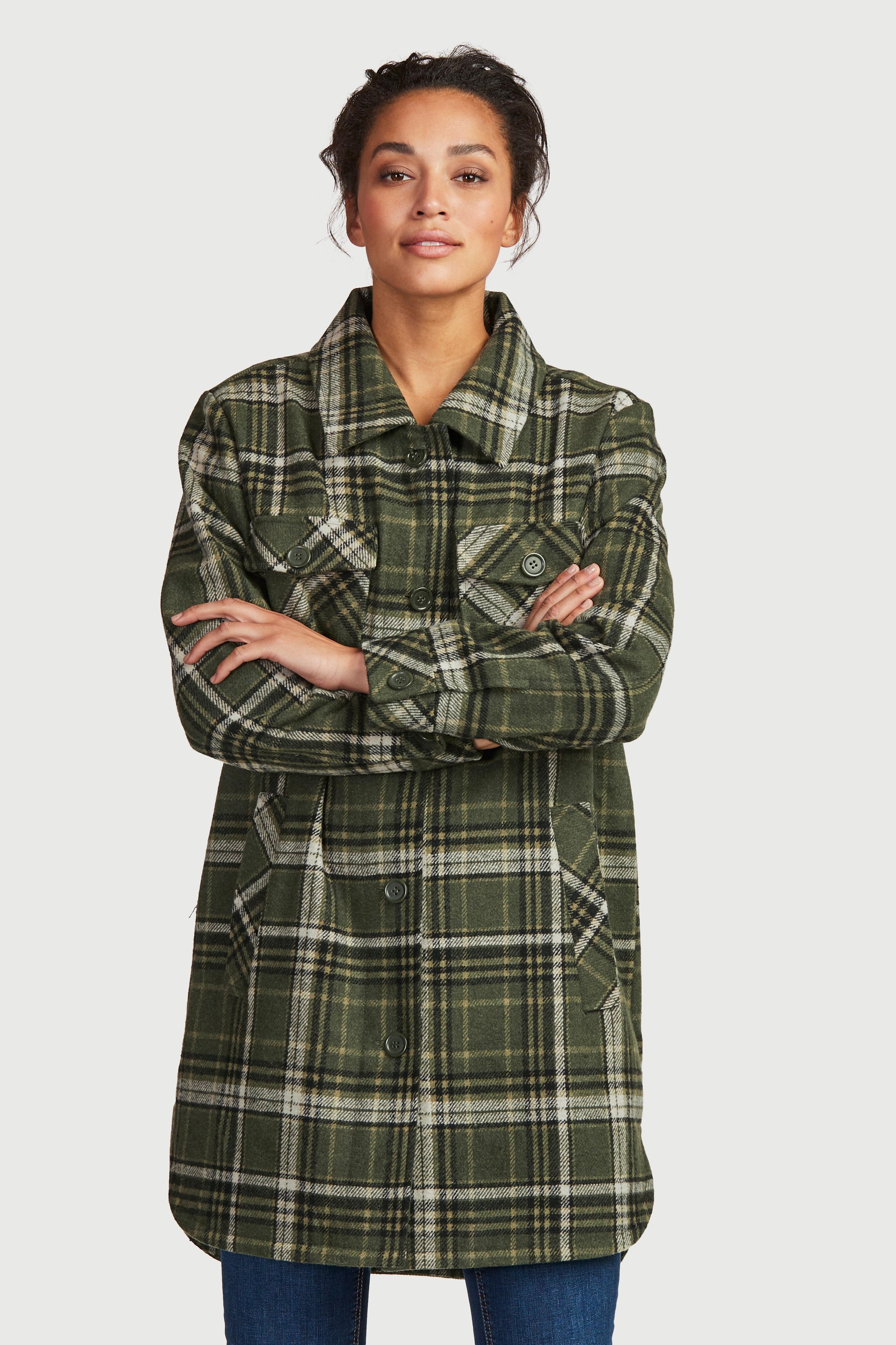Trendig skjortjacka med krage