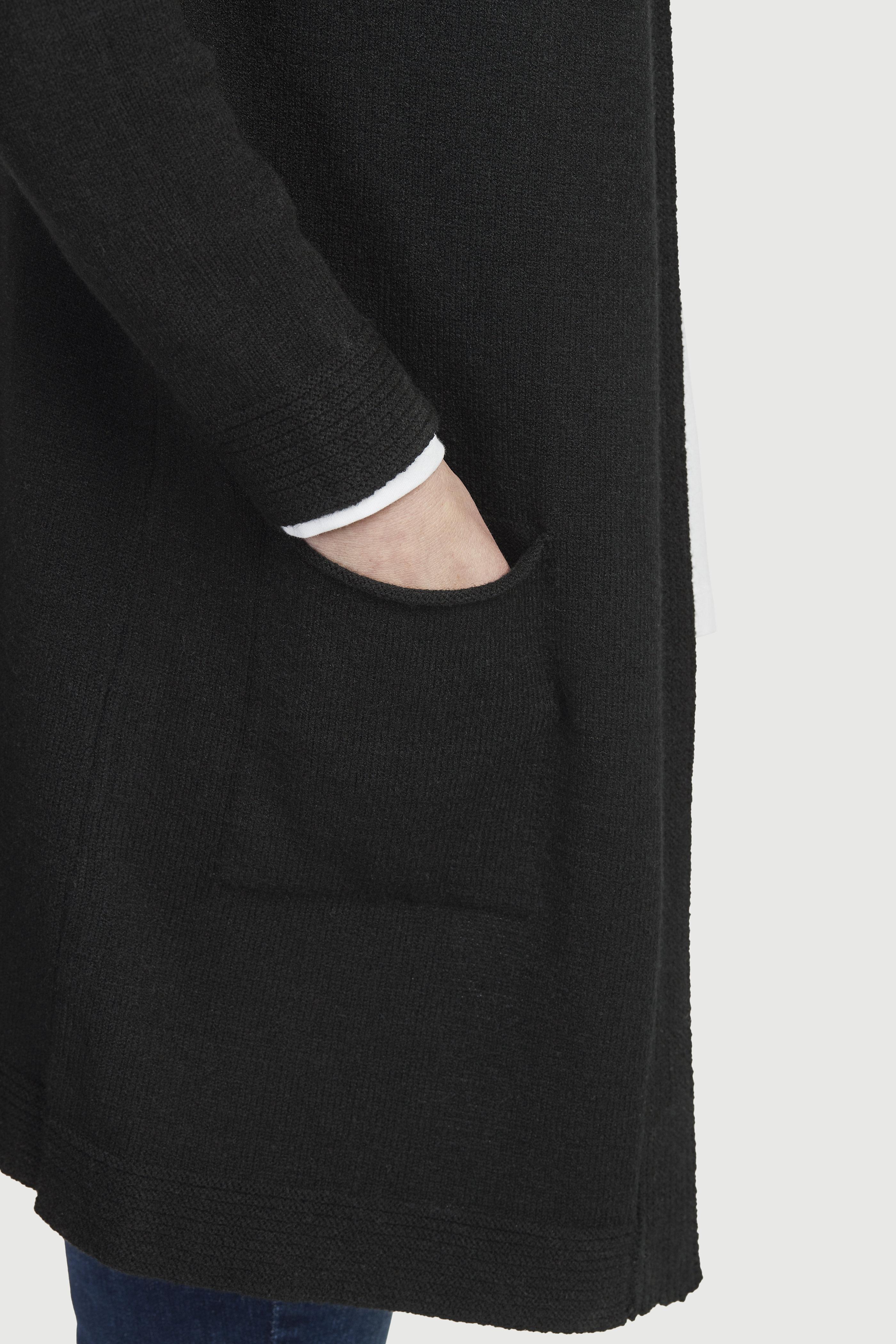Lång cardigan med fickor