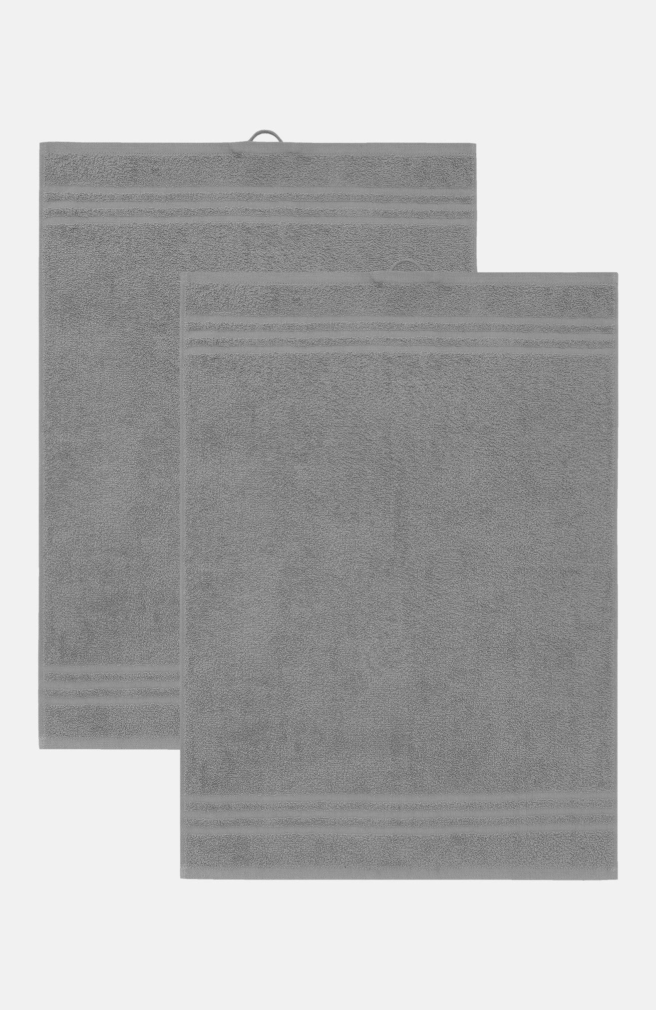Enfärgad frottéhandduk 50x70 cm Basic 50x70 cm 2-pack