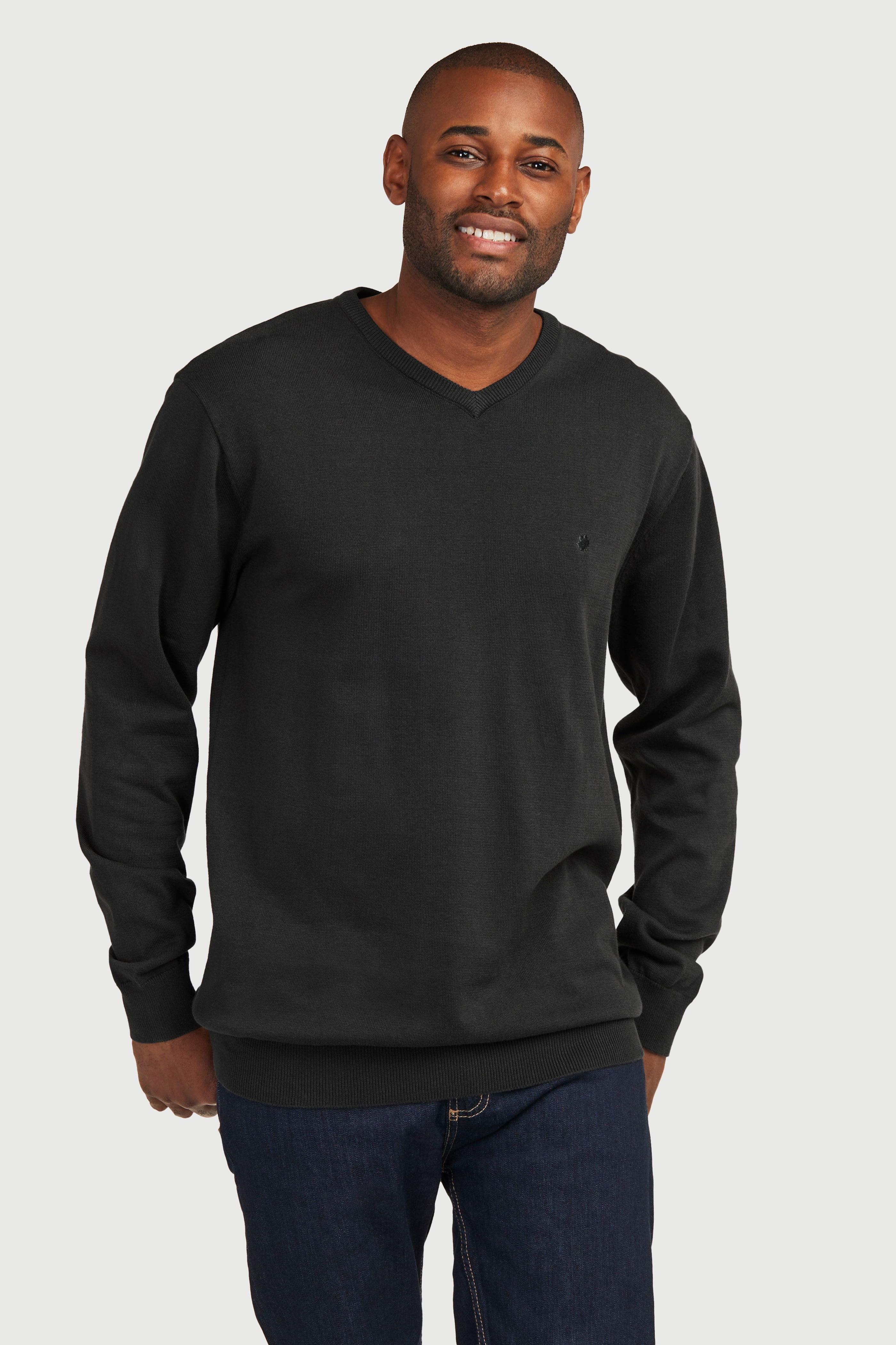 Långärmad tröja med v-ringning
