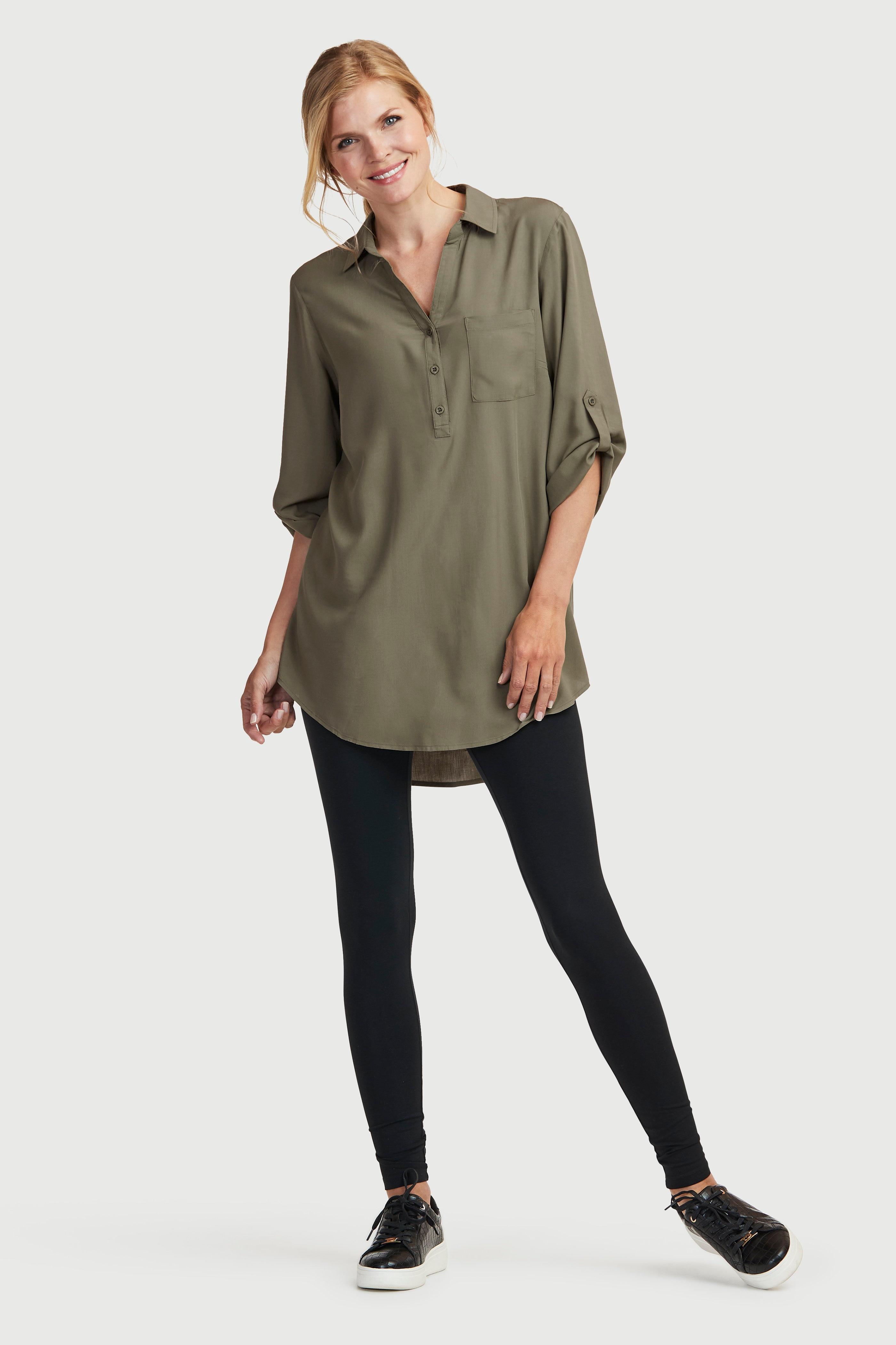 Tunika med skjortkrage