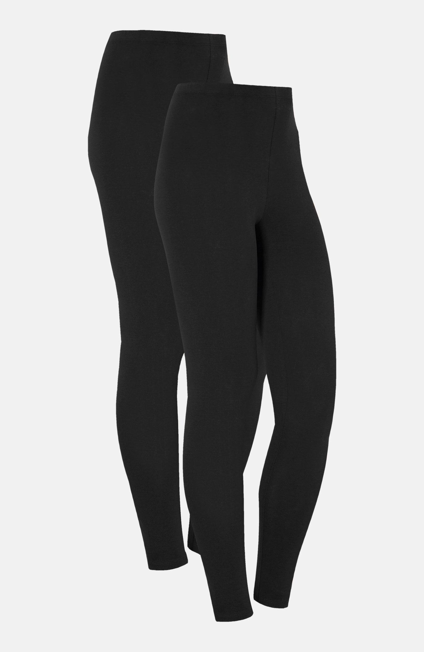 Leggings i mjuk trikå 2-pack