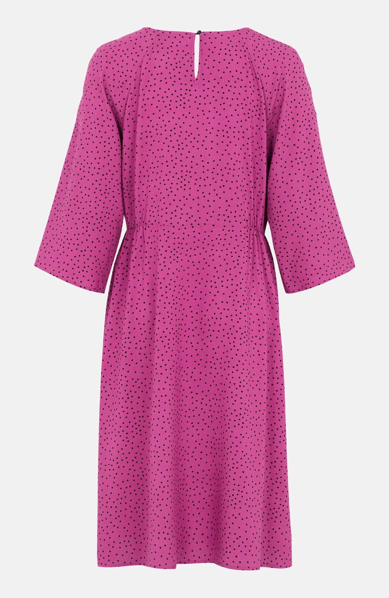 Mönstrad klänning med raglanärmar