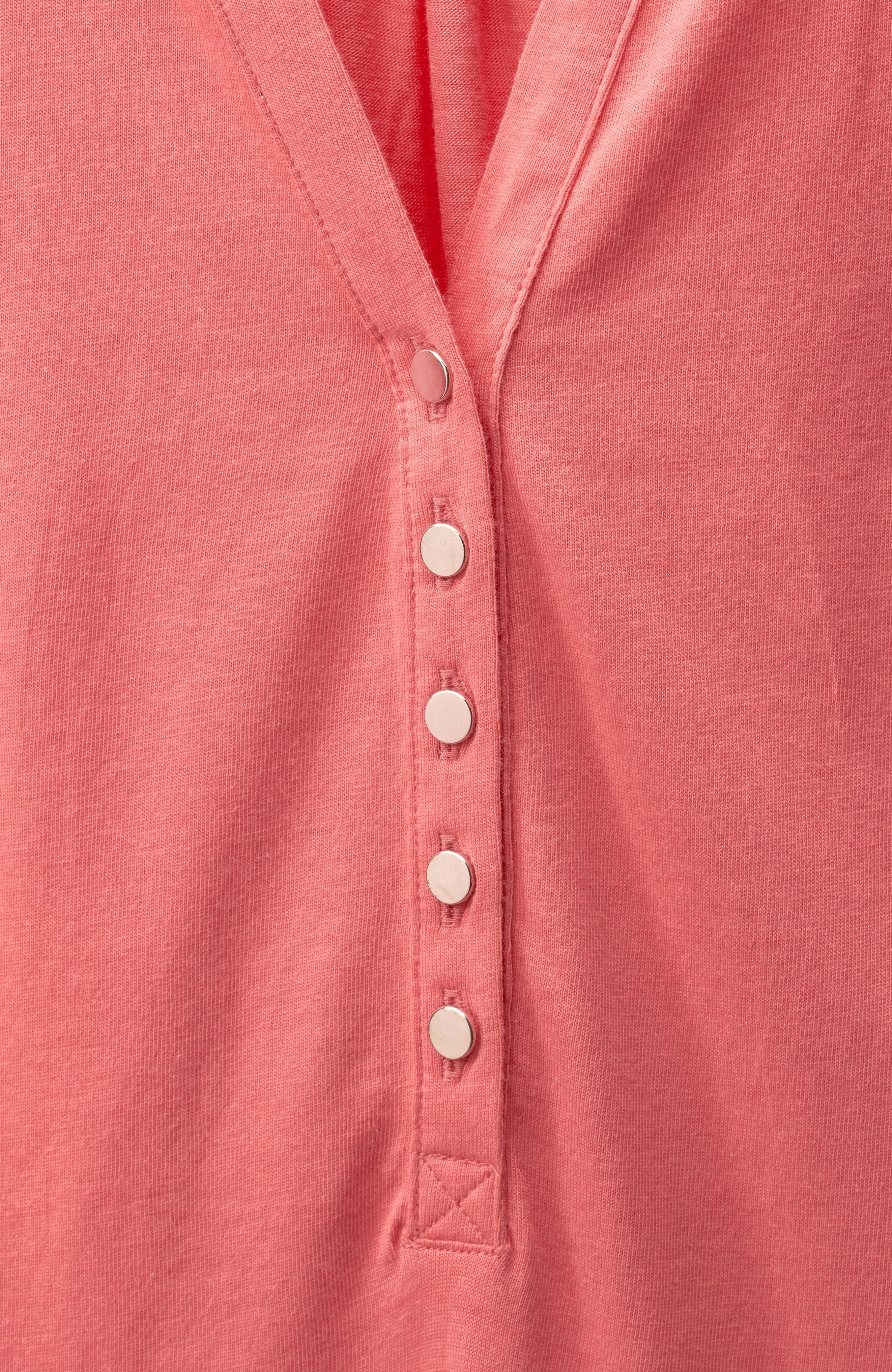 Kortärmad tunika med knappar