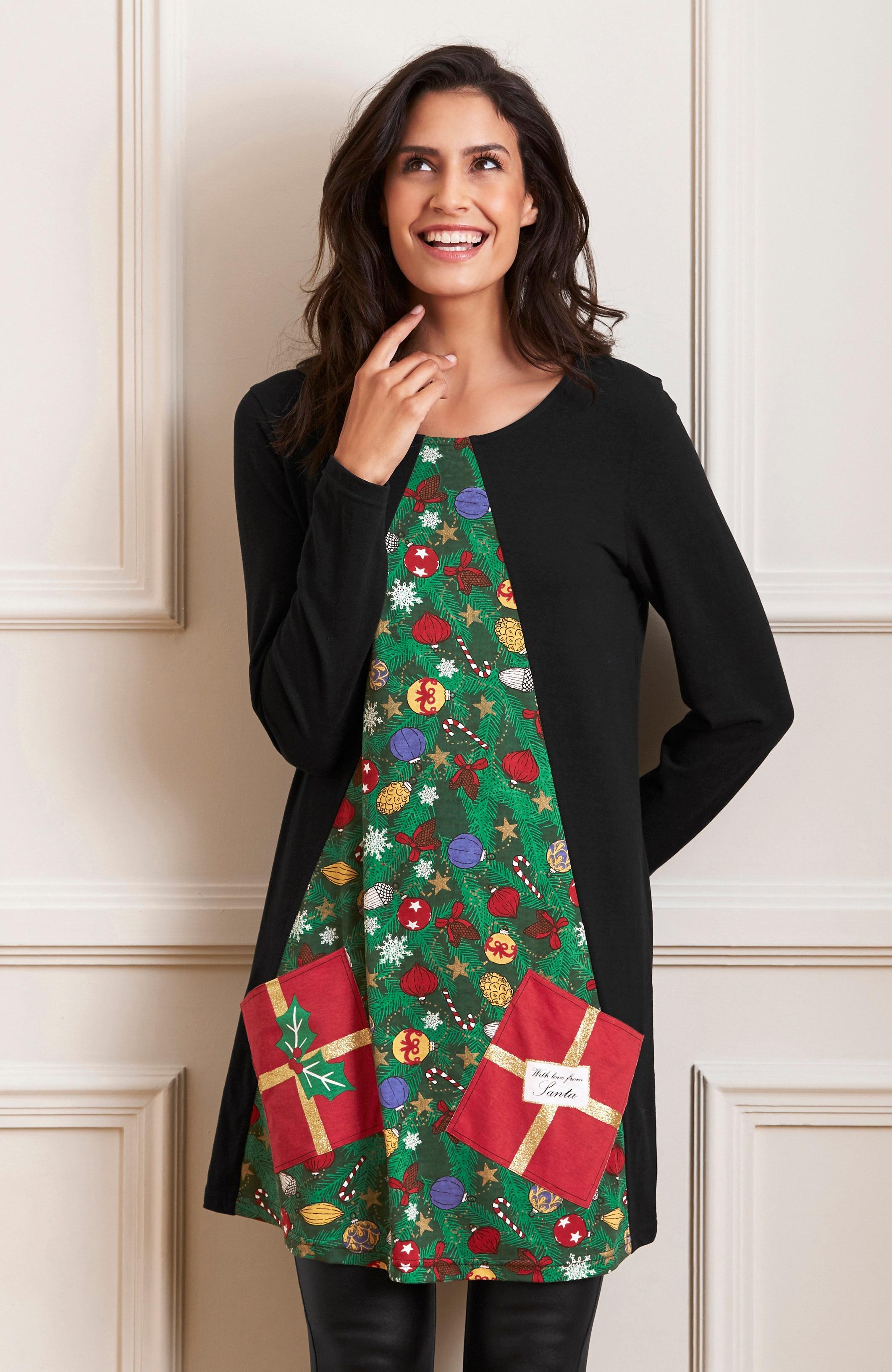 Tunika med julgran