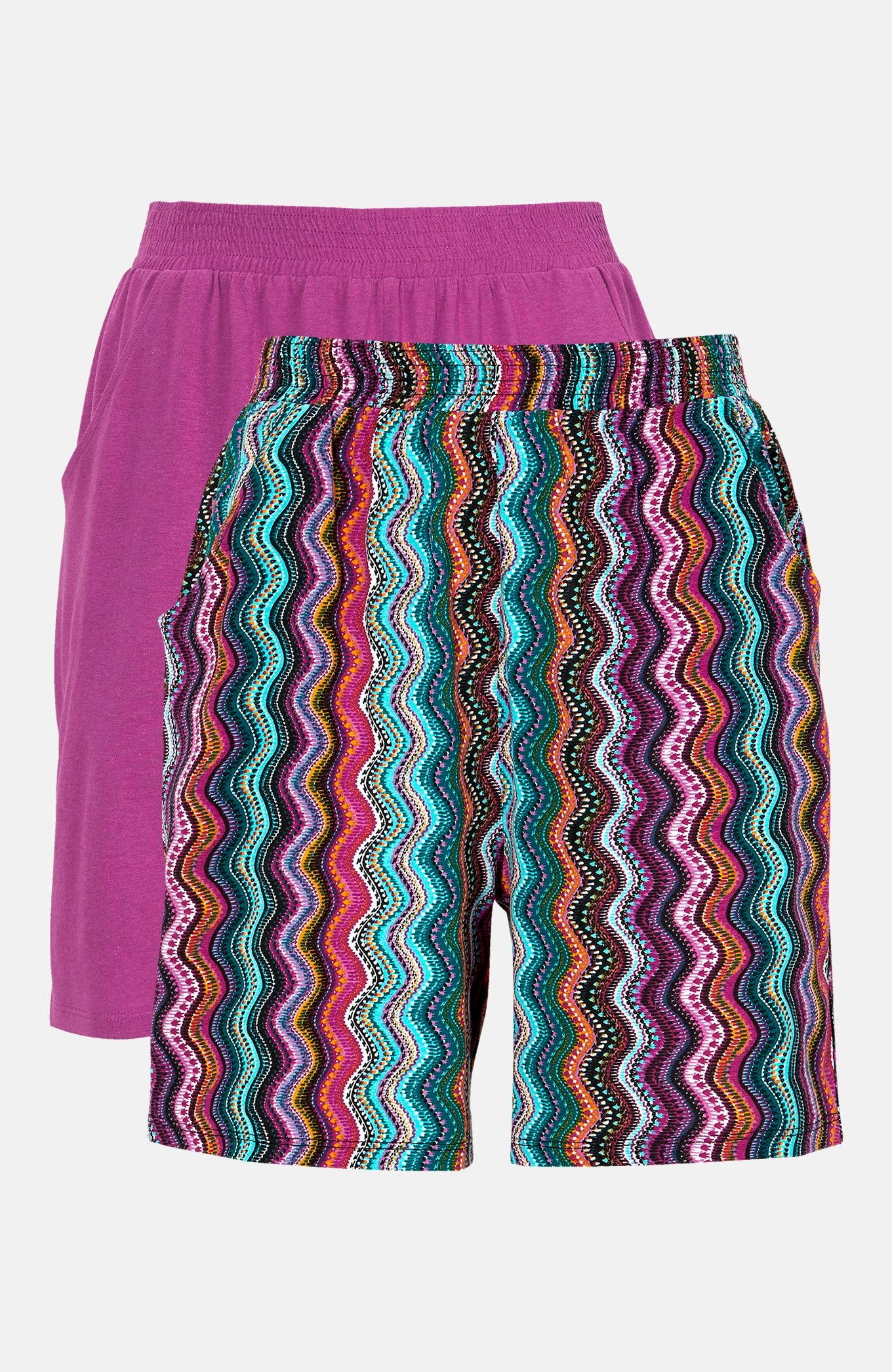 Mönstrade shorts i trikå 2-pack